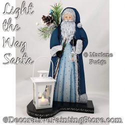 Light the Way Santa Painting Pattern PDF DOWNLOAD - Marlene Fudge