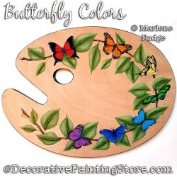 Butterfly Colors Painting Pattern PDF DOWNLOAD - Marlene Fudge