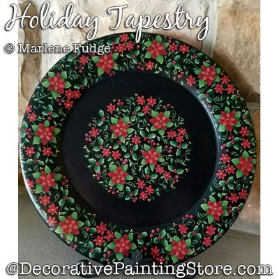 Holiday Tapestry Painting Pattern PDF DOWNLOAD - Marlene Fudge