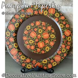 Pumpkin Tapestry Painting Pattern PDF DOWNLOAD - Marlene Fudge