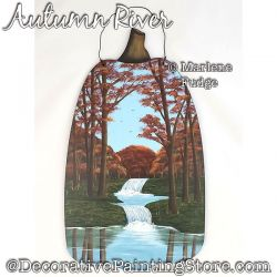 Autumn River Painting Pattern PDF DOWNLOAD - Marlene Fudge
