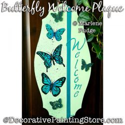 Butterfly Welcome Plaque Painting Pattern PDF DOWNLOAD - Marlene Fudge