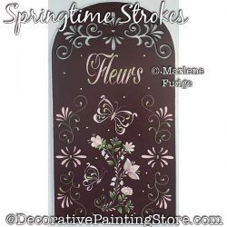 Springtime Strokes Plaque Painting Pattern PDF DOWNLOAD - Marlene Fudge