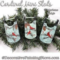 Cardinal Mini Sleds Ornaments Painting Pattern PDF DOWNLOAD - Marlene Fudge