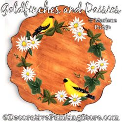 Goldfinishes and Daisies Painting Pattern PDF DOWNLOAD - Marlene Fudge