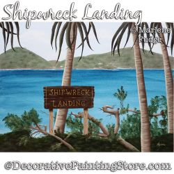Shipwreck Landing Painting Pattern PDF DOWNLOAD - Marlene Fudge