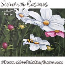 Summer Cosmos Painting Pattern PDF DOWNLOAD - Marlene Fudge