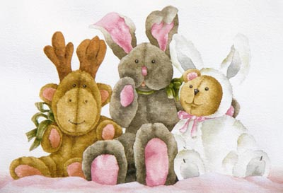 Three Friends Watercolor - Gayle Laible - PDF DOWNLOAD