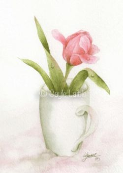 Morning Elegance Watercolor - Gayle Laible - PDF DOWNLOAD