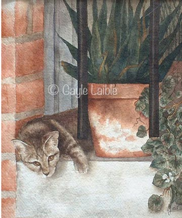 Sleepytime Down South Watercolor - Gayle Laible - PDF DOWNLOAD