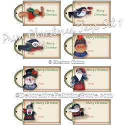 Prim Christmas eTags 01 - Set of 8