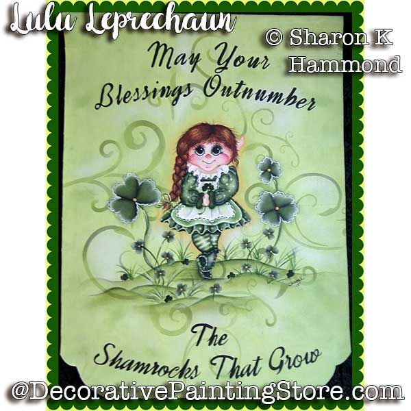 Lulu the Leprechaun ePattern - Sharon K Hammond - PDF DOWNLOAD
