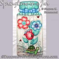 Springtime in a Jar DOWNLOAD Pattern - Sharon K Hammond