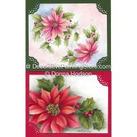 Poinsettia Cards by Donna Hodson - PDF DOWNLOAD