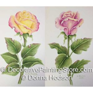 Enchanted Rose - Pink and Peace Roses ePattern - Donna Hodson - PDF DOWNLOAD