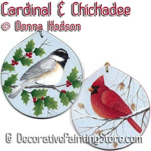 Cardinal and Chickadee ePattern - Donna Hodson - PDF DOWNLOAD