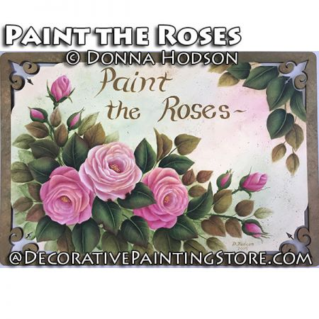 Paint the Roses ePattern - Donna Hodson - PDF DOWNLOAD