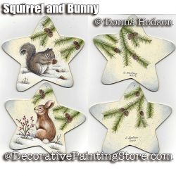 Squirrel and Bunny ePattern - Donna Hodson - PDF DOWNLOAD
