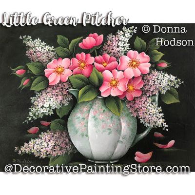 The Little Green Pitcher ePattern - Donna Hodson - PDF DOWNLOAD
