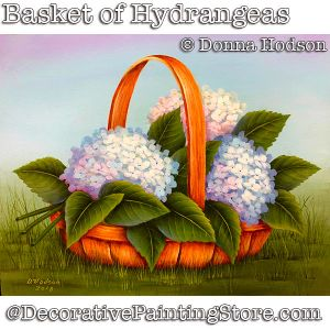 Basket of Hydrangeas DOWNLOAD - Donna Hodson