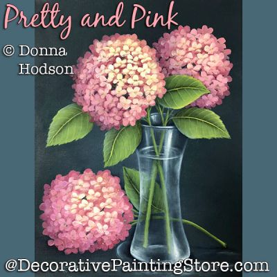 Pretty and Pink (Hydrangeas) DOWNLOAD - Donna Hodson
