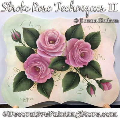 Stroke Rose Techniques II ePattern - Donna Hodson - PDF DOWNLOAD