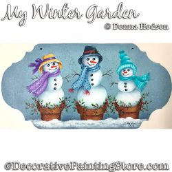 My Winter Garden (Snowmen) PDF DOWNLOAD - Donna Hodson