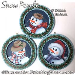 Snow People Painting Pattern PDF DOWNLOAD - Donna Hodson
