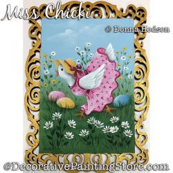 Miss Chicki Painting Pattern PDF DOWNLOAD - Donna Hodson