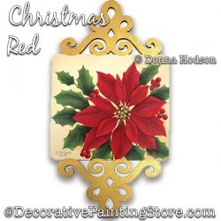 Christmas Red Painting Pattern PDF DOWNLOAD - Donna Hodson