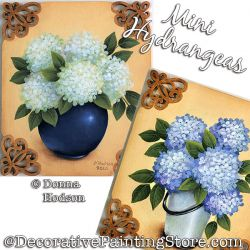 Mini Hydrangeas Painting Pattern PDF DOWNLOAD - Donna Hodson