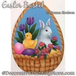 Easter Basket Painting Pattern PDF DOWNLOAD - Donna Hodson