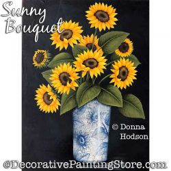 Sunny Bouquet (Sunflowers) Painting Pattern PDF DOWNLOAD - Donna Hodson