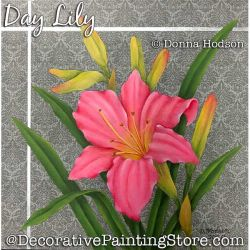 Day Lily Painting Pattern PDF DOWNLOAD - Donna Hodson