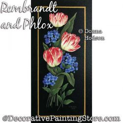 Rembrandt and Phlox (Tulip) Painting Pattern PDF DOWNLOAD - Donna Hodson