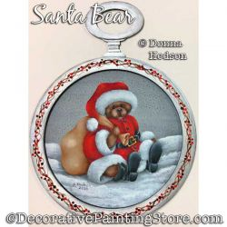 Santa Bear Painting Pattern PDF DOWNLOAD - Donna Hodson