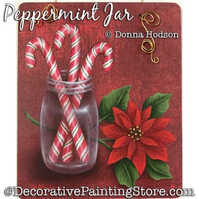 Peppermint Jar Painting Pattern PDF DOWNLOAD - Donna Hodson