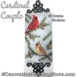 Cardinal Couple Painting Pattern PDF DOWNLOAD - Donna Hodson