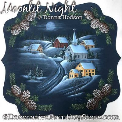 Moonlit Night Painting Pattern PDF DOWNLOAD - Donna Hodson