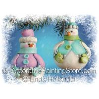 Roly Poly Snow Couple ePacket - Linda Hollander - PDF DOWNLOAD
