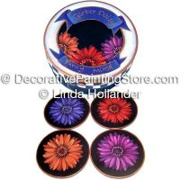 Gerber Daisies Coaster Set ePacket - Linda Hollander - PDF DOWNLOAD