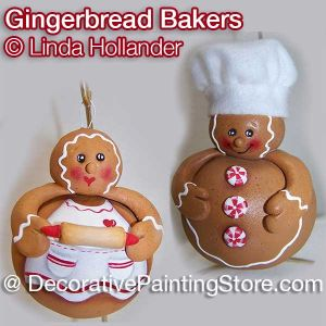 Gingerbread Baker Ornaments ePacket - Linda Hollander - PDF DOWNLOAD