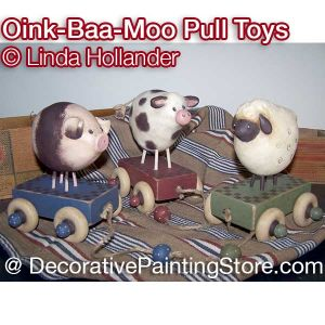 Oink Moo Baa Pull Toys ePacket - Linda Hollander - PDF DOWNLOAD