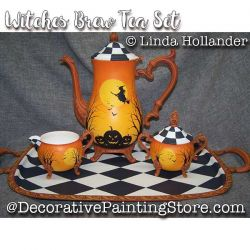 Witches Brew Tea Set ePacket - Linda Hollander - PDF DOWNLOAD