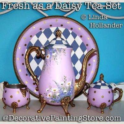 Fresh As a Daisy Tea Set ePacket - Linda Hollander - PDF DOWNLOAD