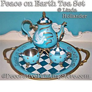 Peace on Earth Tea Set Download - Linda Hollander