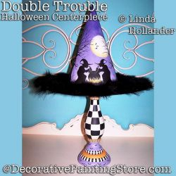 Double Trouble Halloween Centerpiece Download - Linda Hollander