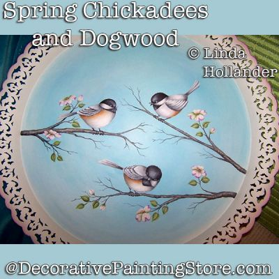 Spring Chickadees and Dogwood Download - Linda Hollander