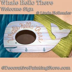 Whale Hello There Welcome Sign Download - Linda Hollander