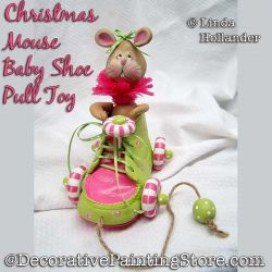 Christmas Mouse Baby Shoe Pull Toy Download - Linda Hollander